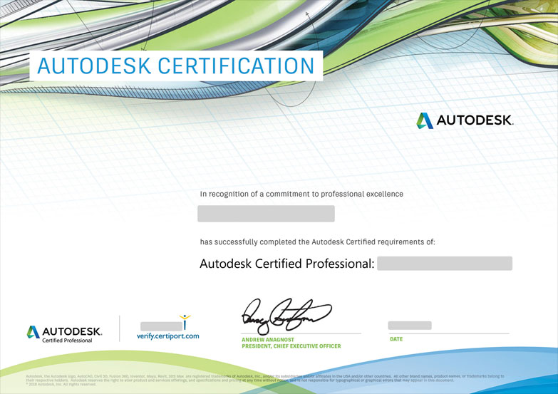 Chứng chỉ Autodesk Professional